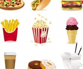 fast food cartoon 01 vectors