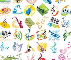 theme music vector design