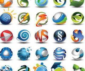 beautifully circular icon 01 design vectors
