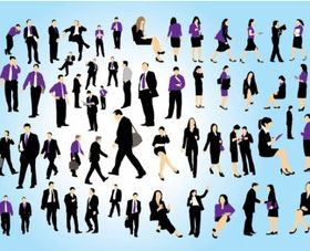 Business People Set vectors material