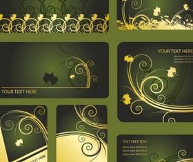 patterns card template vector graphics