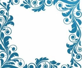 Floral Frame Illustration vectors