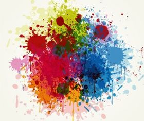 Grunge Colorful Splashing vector