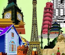 wellknown city building vectors
