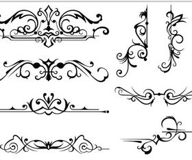 Ornament Borders Elements 12 Illustration vector