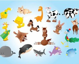 Animal Comics design vectors