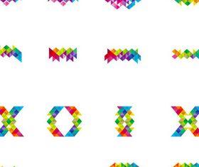 Shiny Abstract Logo Set vector