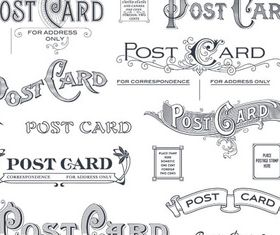 Postcard Calligraphic Elements vector