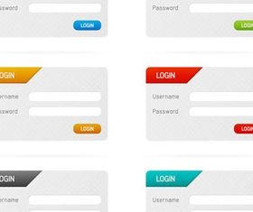 Colorful Web Forms vector