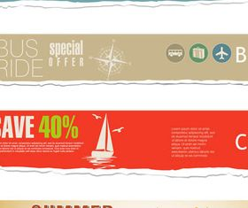 Bright Travel Banners set vector