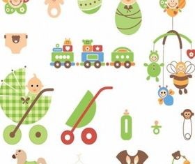 Cute Newborn Elements design vectors