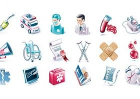 Health and Medical Icon Set vector graphics