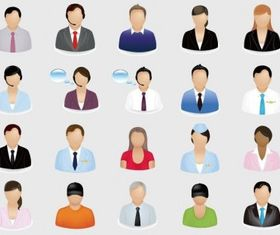 Business People Icon Set vector set