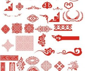 classical boutique pattern vector