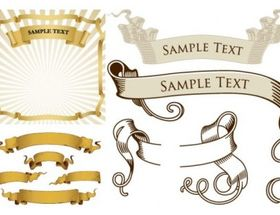 ribbon banner vector