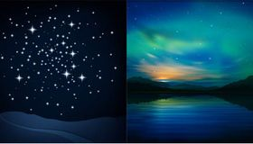 Night Set vector graphic