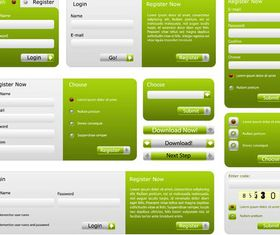 Green Web Design Elements vector
