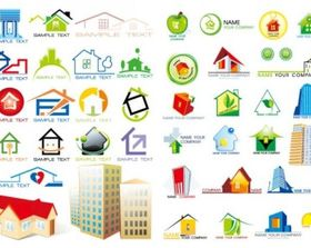 house graphics set vector