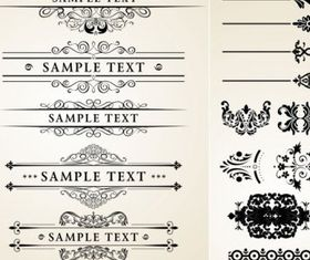 classic lace pattern vector material