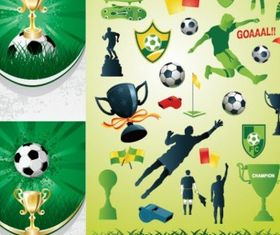 football theme vectors graphic
