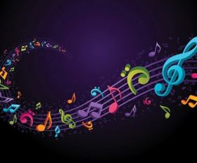 theme music notes vector