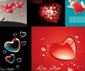 love heartshaped vector set