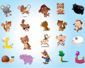 Animal Characters Vector