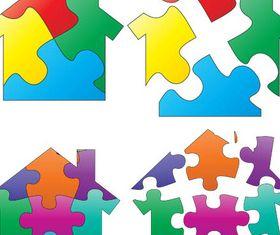 Creative Puzzles Logo vector
