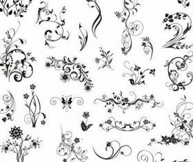 Ornamental Design Elements shiny vector