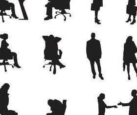Silhouettes Business People vector