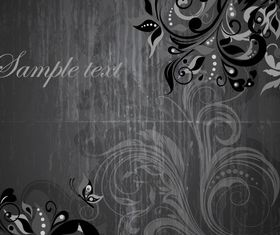 Dark floral background vectors