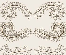 Floral Borders Elements art vector design