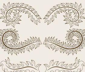 Floral Borders Elements art vector design