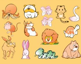 Animal Cartoons vectors