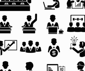Business People Icons 13 set vector