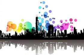 Abstract Modern City Illustration vectors graphic