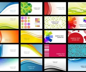 business card templates vectors abstract design