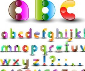 Alphabet with Numbers art vector