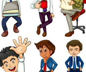 Businessmen Set 2 vectors graphics