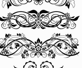 Floral Ornaments Vector Graphics