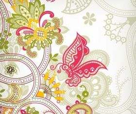 Vintage Flower Background Design Vectors
