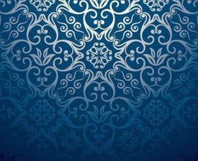 European pattern background vector material