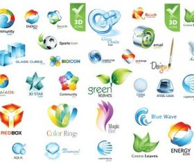 Beautiful 3d icon design vector