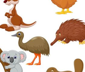 Cute Wild Animals Vector