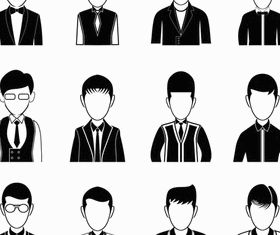 People Silhouette Avatars set vector
