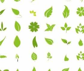 Green Leaf Design Elements vector design