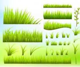 green grass borders vectors