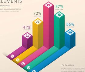 Diagrams Infographic Backgrounds design vector