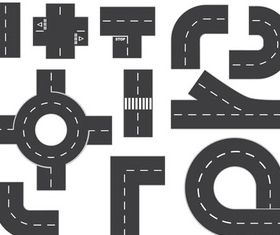 Elements roads vector