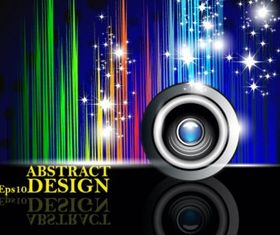 Colorful music background vectors graphic